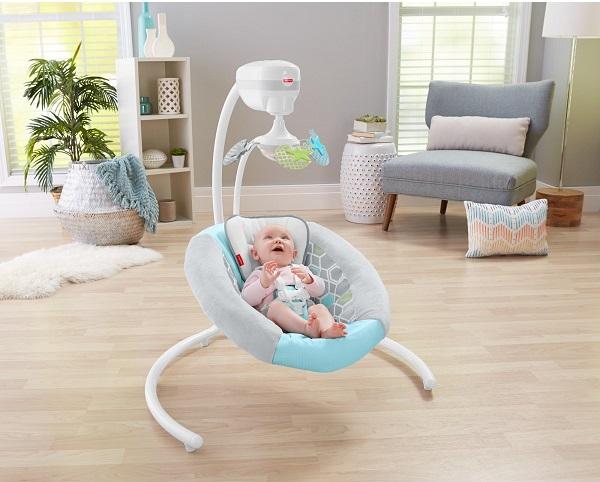 Có chiếc ghế rung thông minh này, bố mẹ sẽ chẳng bao giờ phải lo ru con ngủ nữa - Ảnh 1.