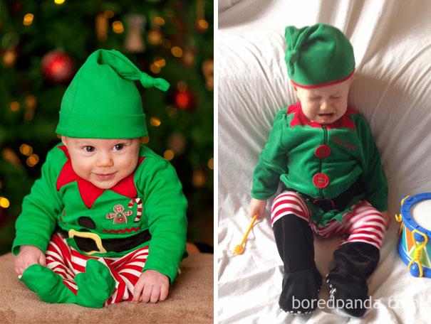 """Những khoảnh khắc """"cười ra nước mắt""""  vì không phải bé nào cũng thích Noel như cha mẹ vẫn nghĩ - Ảnh 21."""