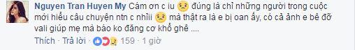 Huyền My bị chỉ trích vì để mẹ xách vali và đây là phản ứng của Lan Khuê - Ảnh 2.