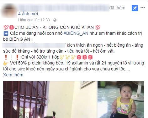 Giận dữ vì ảnh con gái bị mang ra quảng cáo sản phẩm thuốc tăng cân, mẹ bỉm đăng đàn cầu cứu 500 chị em - Ảnh 2.
