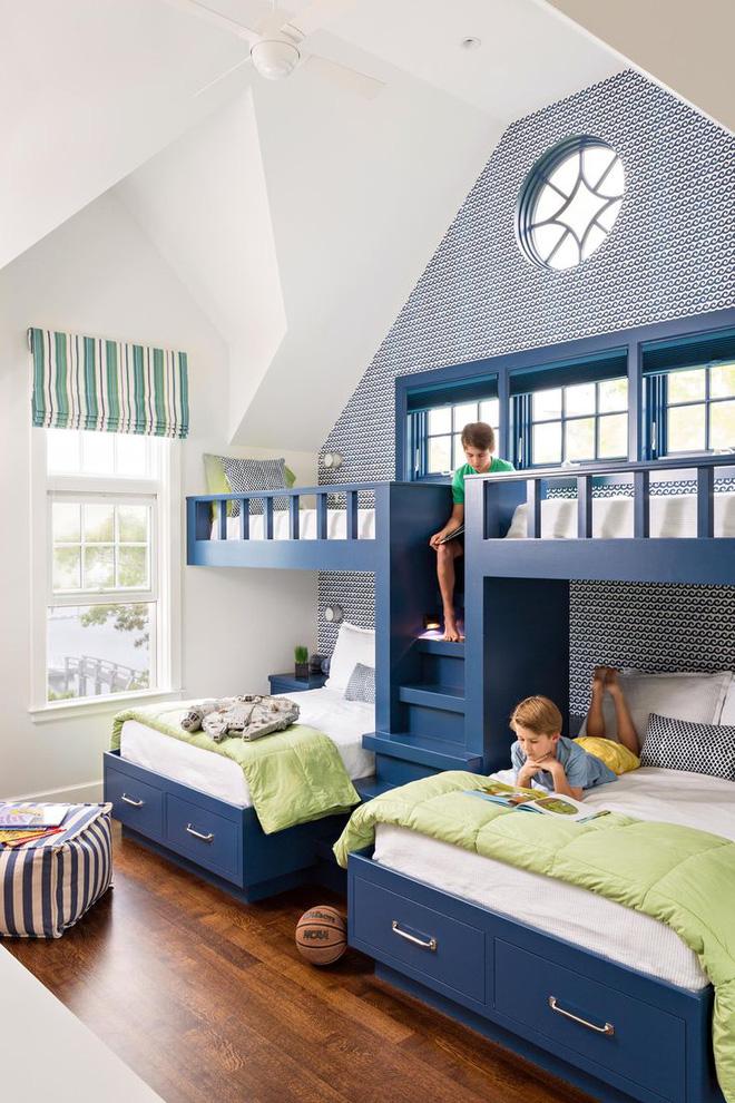 11 mẫu giường tầng đẹp, gọn cực đáng tham khảo cho những gia đình nhà chật mà đông con - Ảnh 1.