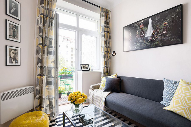 Sau cải tạo, căn hộ 45m² này đã có những bước tiến ngoạn mục về cả thẩm mỹ lẫn công năng - Ảnh 1.