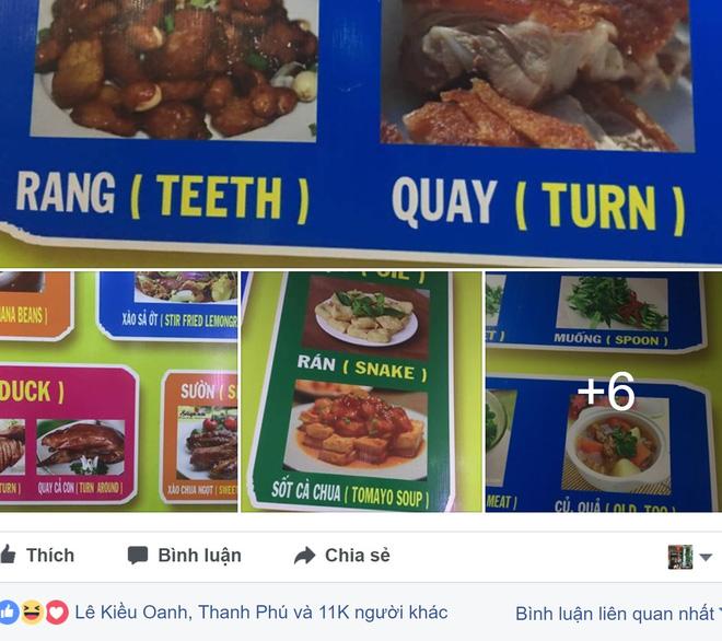 Thực đơn hot nhất Facebook hôm nay: Google dịch tên món ăn Việt - Anh sai be bét khiến người xem không nhịn được cười - Ảnh 1.