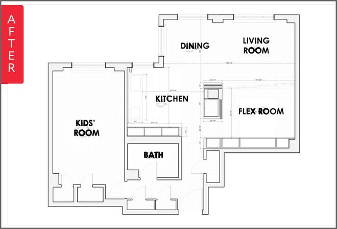 Căn hộ 1 phòng ngủ lột xác diệu kỳ để trở thành tổ ấm cho gia đình 4 người - Ảnh 8.