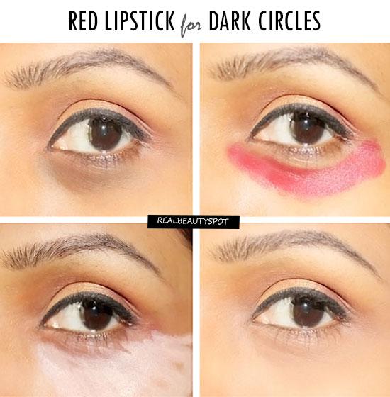 Bôi đỏ như bị đánh thế này mới là cách hay nhất để các chị em che giấu quầng thâm mắt - Ảnh 2.