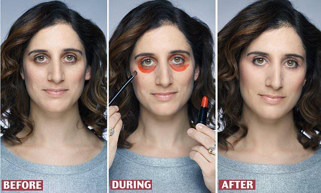 Bôi đỏ như bị đánh thế này mới là cách hay nhất để các chị em che giấu quầng thâm mắt - Ảnh 6.