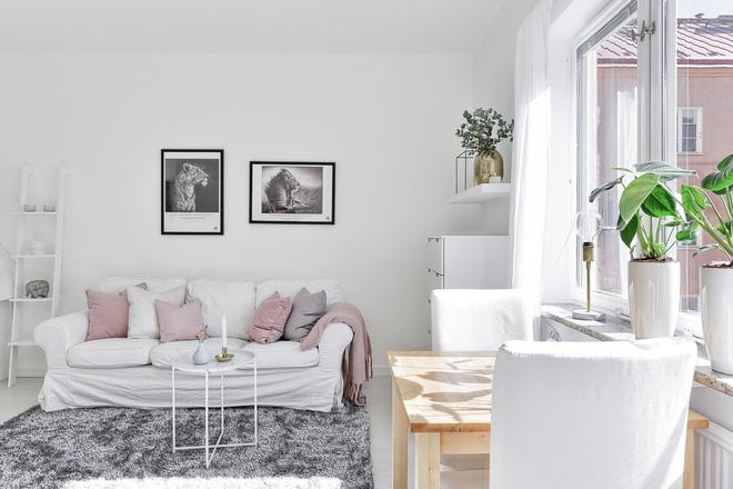 Chỉ 28m² nhưng căn hộ màu trắng này vừa đẹp không tì vết vừa đủ đầy đến hiếm có khó tìm - Ảnh 2.