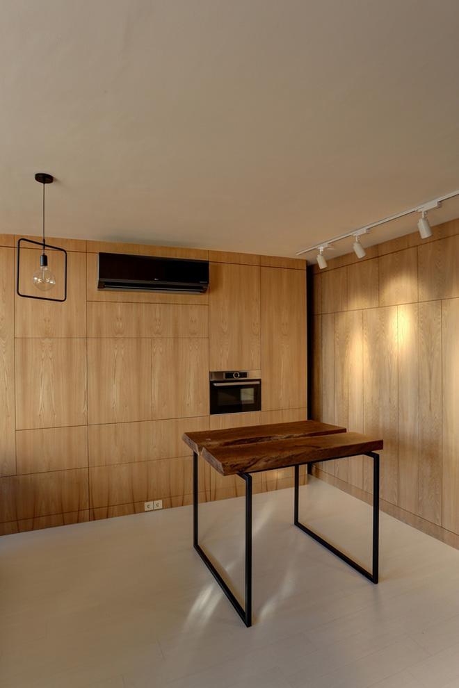 Căn hộ 45m² cực ấn tượng với giường treo và hệ tủ âm tường biến hóa khôn lường - Ảnh 15.