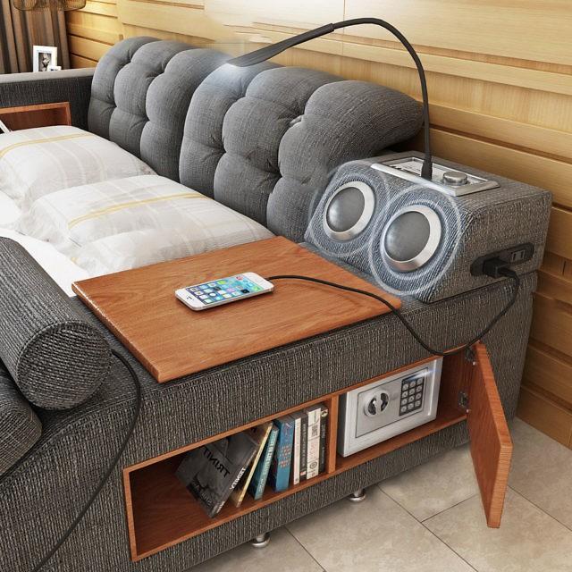 Có chiếc giường đa năng chất thế này thì chỉ muốn nằm lì cả ngày để tận hưởng - Ảnh 4.