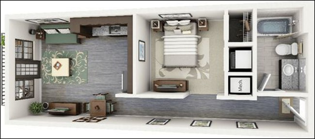 14 mẫu căn hộ một phòng ngủ không thể lý tưởng hơn cho người độc thân và vợ chồng trẻ - Ảnh 1.