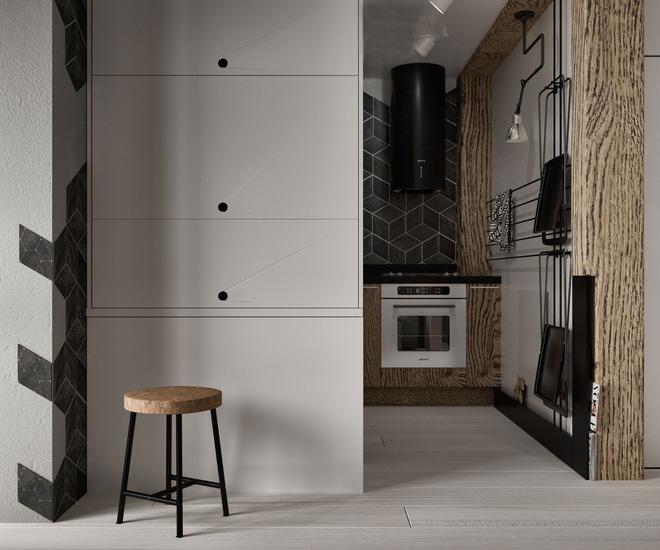 Hai căn hộ 35m² với phong cách trang trí công nghiệp nhưng lãng mạn đến khó tin - Ảnh 13.