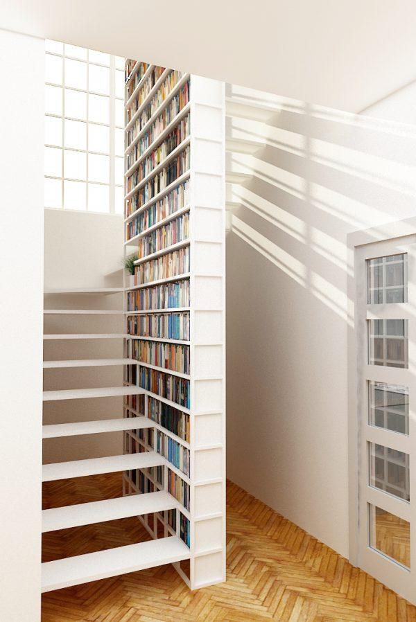 20 thiết kế giá sách kết hợp với cầu thang vô cùng đẹp mắt - Ảnh 19.