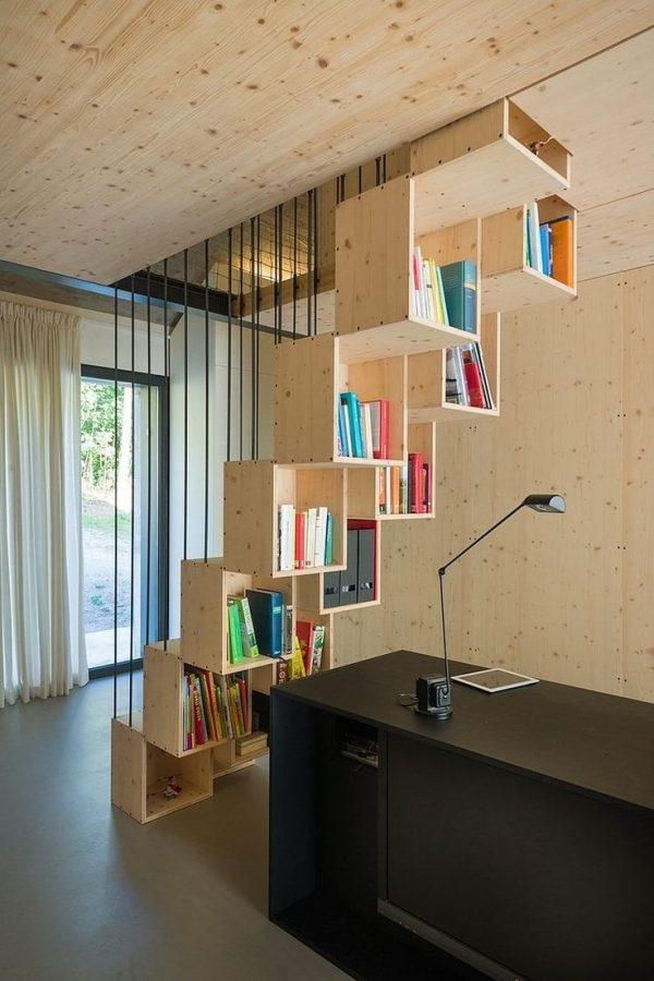 20 thiết kế giá sách kết hợp với cầu thang vô cùng đẹp mắt - Ảnh 20.