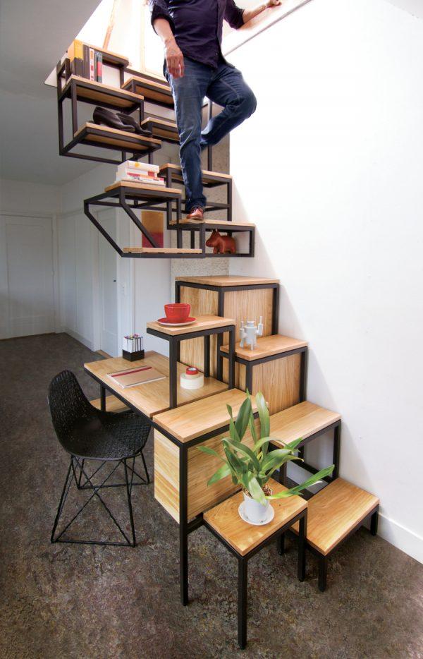 20 thiết kế giá sách kết hợp với cầu thang vô cùng đẹp mắt - Ảnh 3.