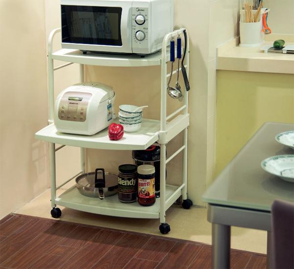 13 mẫu giá kệ để lò vi sóng tiện dụng cho nhà bếp nhỏ - Ảnh 5.