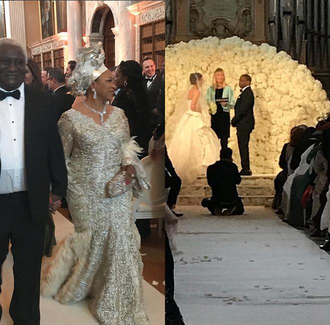 Đám cưới sang chảnh với 1 triệu bông hồng của con trai tỷ phú da màu giàu nhất thế giới - Ảnh 6.
