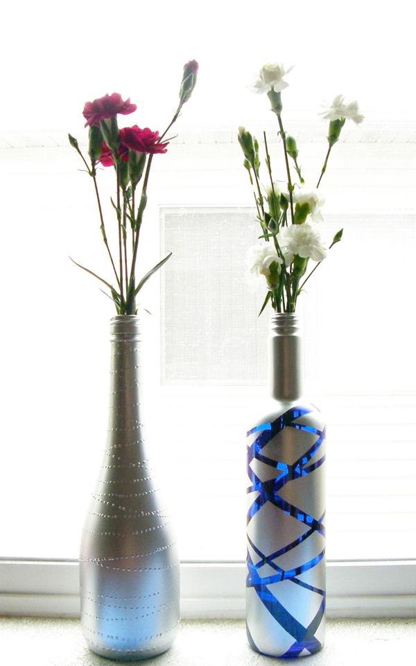 3 cách tái chế vỏ chai thành lọ cắm hoa đơn giản đẹp tinh tế - Ảnh 6.