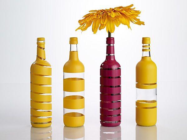 3 cách tái chế vỏ chai thành lọ cắm hoa đơn giản đẹp tinh tế - Ảnh 7.