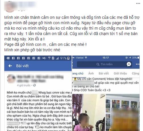 Giận dữ vì ảnh con gái bị mang ra quảng cáo sản phẩm thuốc tăng cân, mẹ bỉm đăng đàn cầu cứu 500 chị em - Ảnh 8.