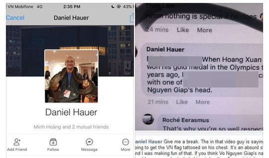 Mời Daniel Hauer lên làm việc vì phát ngôn xúc phạm Đại tướng Võ Nguyên Giáp - Ảnh 2.