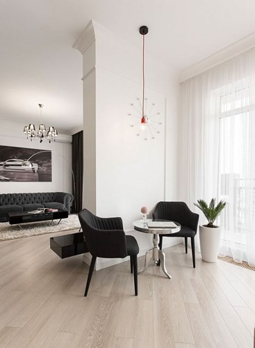 Phòng ngủ độc đáo nhờ sử dụng ánh sáng trong căn hộ 50m2 - Ảnh 12.