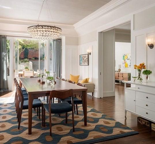 Gợi ý chọn thảm giúp phòng ăn đẹp và ấm cúng - Ảnh 2.