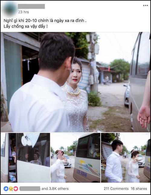 Phía sau bức ảnh cô dâu lau nước mắt chào người thân về nhà chồng: Mẹ mình bị ung thư, từ giờ ai sẽ đưa mẹ đi viện... - Ảnh 1.