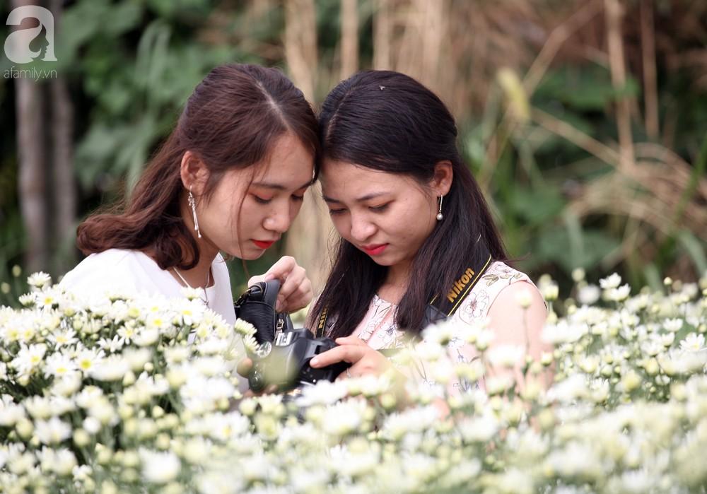 Phụ nữ, trẻ em chen nhau tạo dáng chụp ảnh kín đặc vườn cúc họa mi Nhật Tân - Ảnh 10.