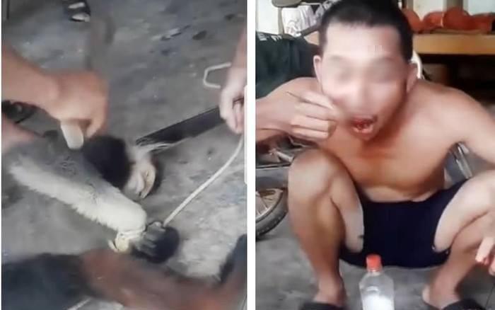 Vụ nhóm người giết khỉ ăn sống phát trực tiếp lên Facebook: Xác định được danh tính các đối tượng