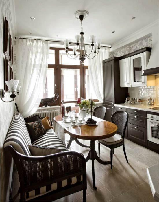 Cách chọn rèm cửa cho nhà bếp kết nối với ban công vừa đẹp vừa thuận tiện đi lại - Ảnh 4.