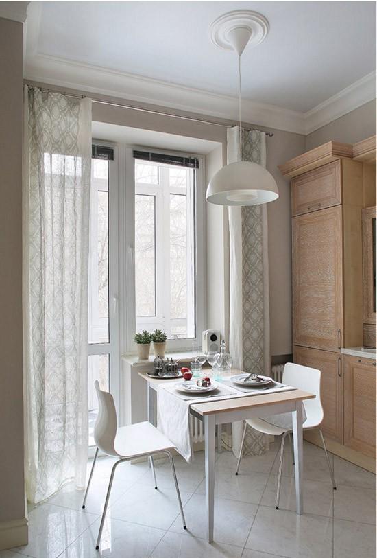 Cách chọn rèm cửa cho nhà bếp kết nối với ban công vừa đẹp vừa thuận tiện đi lại - Ảnh 9.