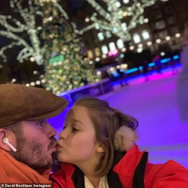 Nụ hôn môi của David Beckham với con gái làm cả cư dân mạng lẫn các sao tranh cãi nảy lửa - Ảnh 1.
