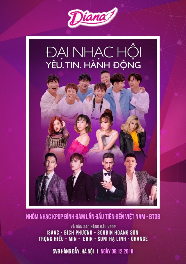 Diana tổ chức đại nhạc hội với sự tham gia của nhóm nhạc Hàn Quốc BTOB và EXID - Ảnh 2.
