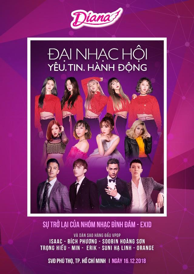 Diana tổ chức đại nhạc hội với sự tham gia của nhóm nhạc Hàn Quốc BTOB và EXID - Ảnh 3.