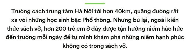 Ngôi trường đồi cách Hà Nội 40km, nơi con trẻ được thoải mái vẫy vùng và bỏ xuống gánh nặng điểm số - Ảnh 1.