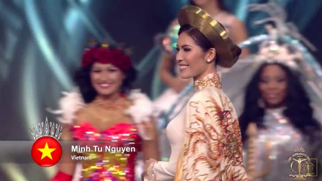 Minh Tú được trao cúp Hoa hậu Siêu quốc gia 2018 do khán giả bình chọn - Ảnh 1.
