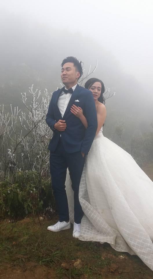 Để đẹp thì bất chấp: Cô dâu vai trần, chú rể gồng mình dưới trời băng tuyết để có bộ ảnh cưới nghìn like - Ảnh 1.