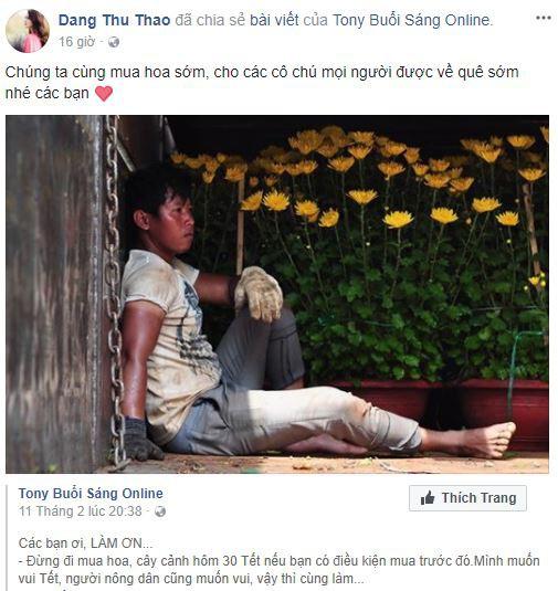 Tết tràn ngập yêu thương khi các sao Việt đồng loạt lên tiếng kêu gọi mọi người cứu lấy cái Tết của những người bán hoa - Ảnh 2.