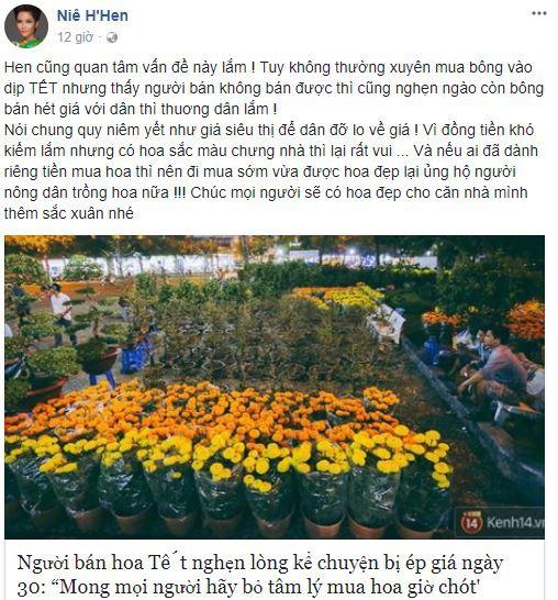 Tết tràn ngập yêu thương khi các sao Việt đồng loạt lên tiếng kêu gọi mọi người cứu lấy cái Tết của những người bán hoa - Ảnh 4.