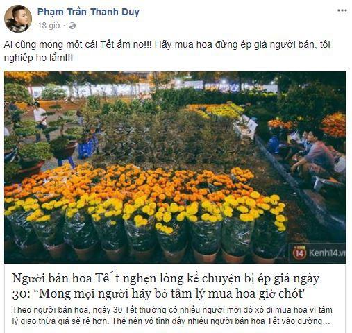 Tết tràn ngập yêu thương khi các sao Việt đồng loạt lên tiếng kêu gọi mọi người cứu lấy cái Tết của những người bán hoa - Ảnh 8.