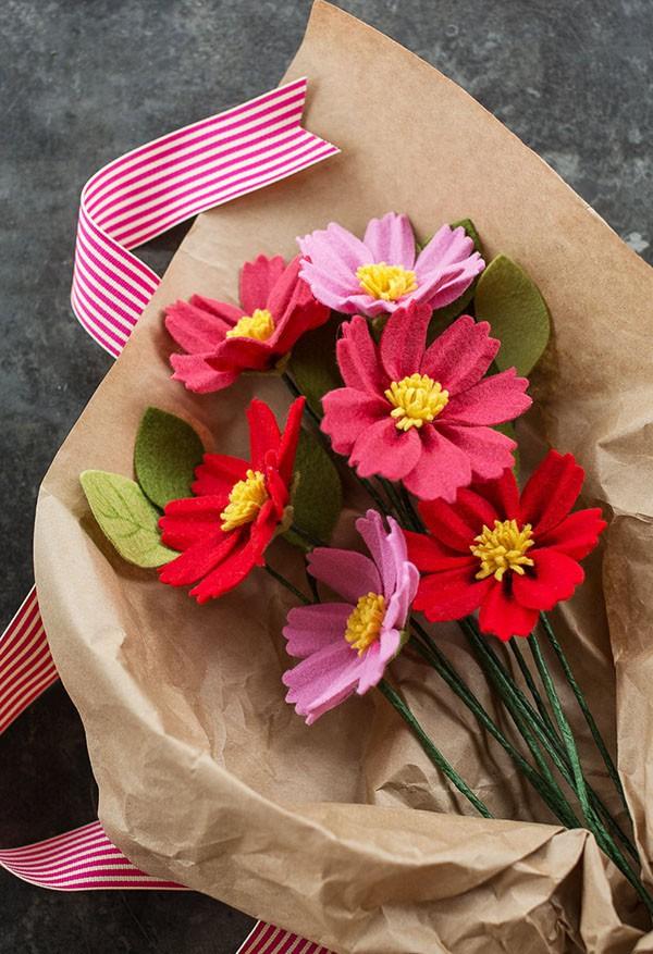 3 cách làm hoa cùng vải dạ đơn giản cực đẹp - Ảnh 6.