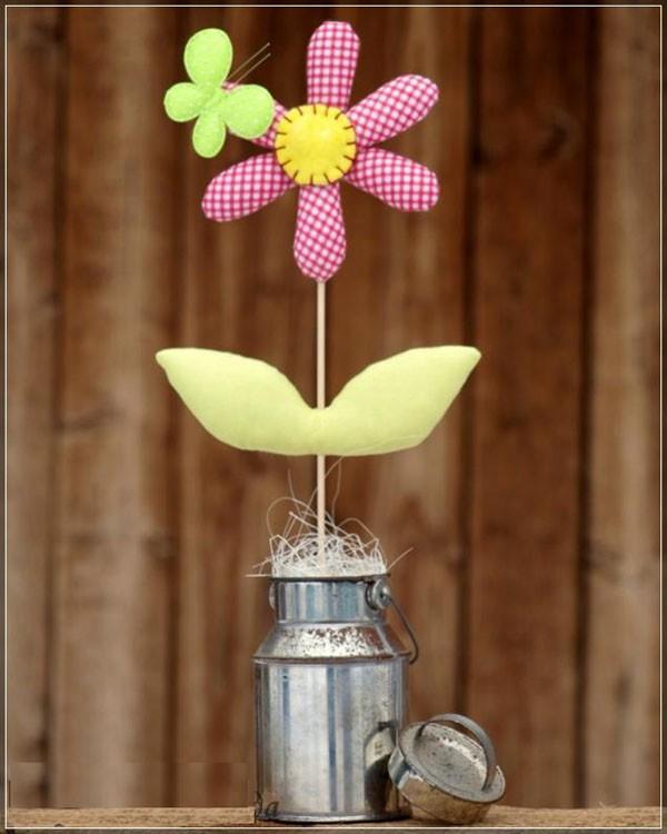 Cách làm chậu hoa vải siêu dễ trang trí phòng cực xinh - Ảnh 9.
