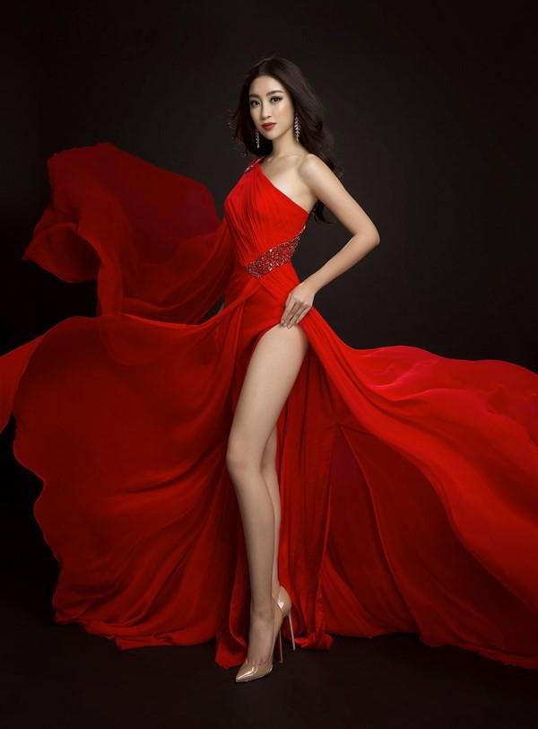 Cùng diện váy đỏ gợi cảm, Dương Tú Anh đẹp trong trẻo trong khi Đỗ Mỹ Linh lại lộng lẫy gợi cảm - Ảnh 7.