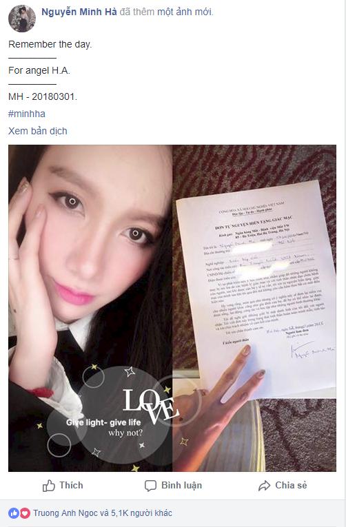 Nữ MC Minh Hà chia sẻ hành động đẹp đi đăng ký hiến tạng sau khi đọc câu chuyện của bé Hải An - Ảnh 3.