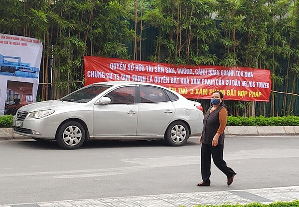 Hà Nội: Cư dân chung cư túc trực đã 20 ngày đêm, ngăn việc sử dụng đường nội bộ để thi công trường mầm non - Ảnh 8.