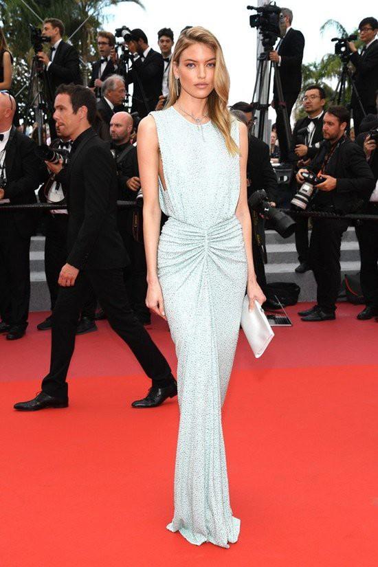 Gần ngày bế mạc nhưng thảm đỏ Cannes vẫn tiếp tục những màn khoe ngực, chơi trội bằng váy áo cồng kềnh, tóc búi rơm - Ảnh 6.