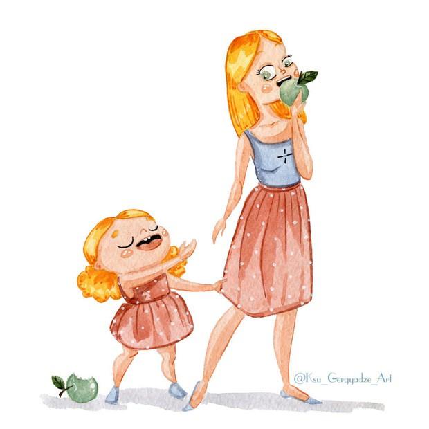 Bộ tranh: Khi trong nhà có một cô con gái nhỏ, mọi thứ đều tự động trở nên đáng yêu như thế này đây! - Ảnh 1.