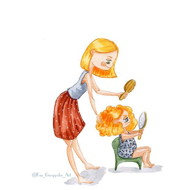 Bộ tranh: Khi trong nhà có một cô con gái nhỏ, mọi thứ đều tự động trở nên đáng yêu như thế này đây! - Ảnh 4.