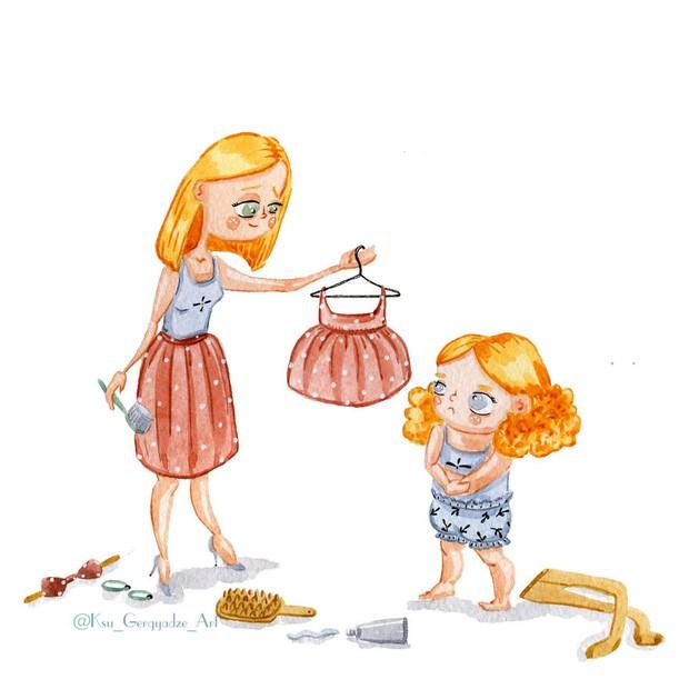 Bộ tranh: Khi trong nhà có một cô con gái nhỏ, mọi thứ đều tự động trở nên đáng yêu như thế này đây! - Ảnh 5.