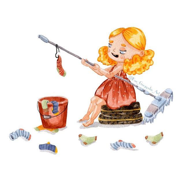 Bộ tranh: Khi trong nhà có một cô con gái nhỏ, mọi thứ đều tự động trở nên đáng yêu như thế này đây! - Ảnh 6.